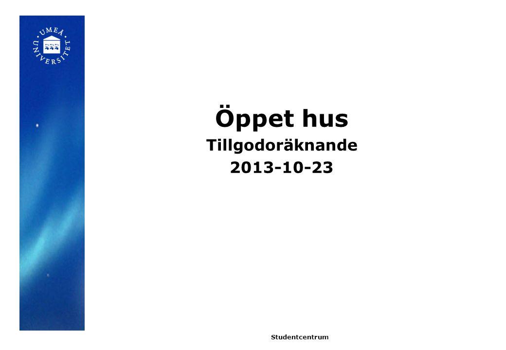 Studentfallskrivelse 2010 Tillgodoräknanden har hanterats på olika sätt vid Umeå universitet.