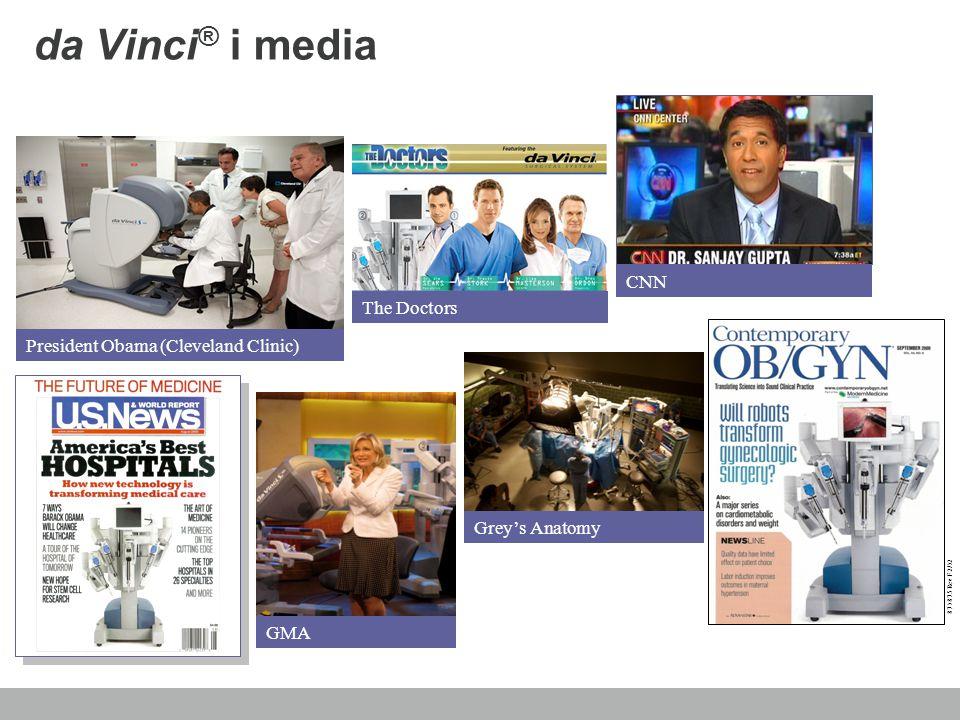 da Vinci ® i media Grey's Anatomy CNN GMA President Obama (Cleveland Clinic) The Doctors 871875 Rev F 2/12