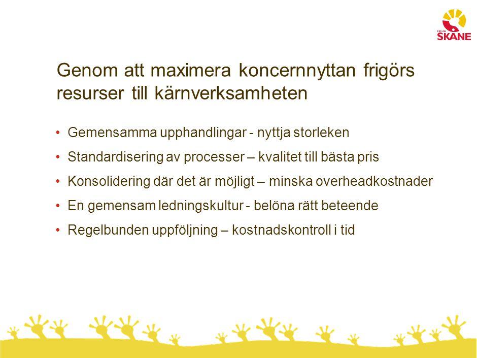 2010 tillkommer uppdrag utöver tidigare Övertar funktionen projektkontor från RSIT Ansvar för kontroll och uppföljning av projektstyrning Ansvar för att förvalta Region Skånes IT-relaterade projektportfölj Ägare av Projektmodellen och utvecklingsarbetet kring den