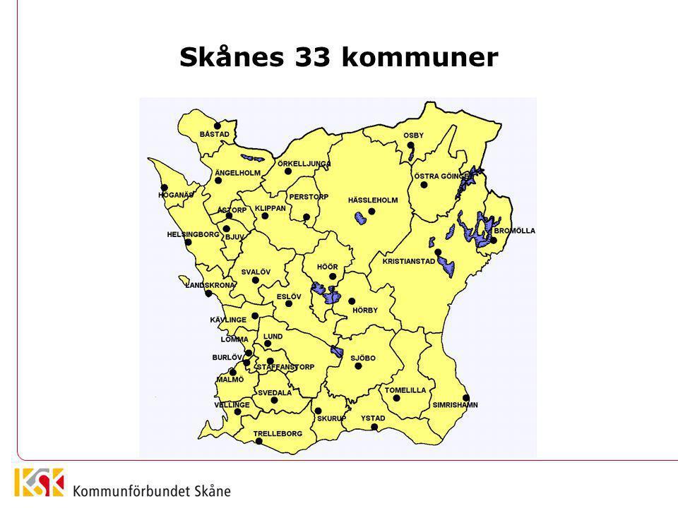 Skånes 33 kommuner