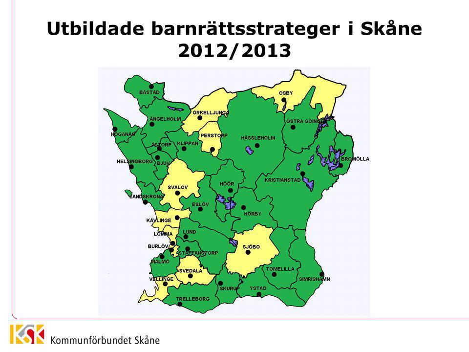 Utbildade barnrättsstrateger i Skåne 2012/2013