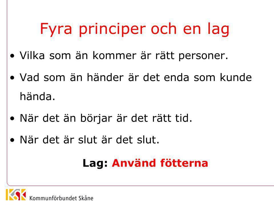 Fyra principer och en lag Vilka som än kommer är rätt personer.