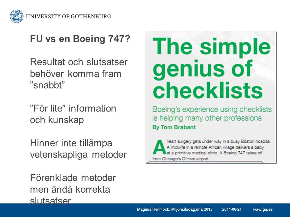 www.gu.se FU vs en Boeing 747.