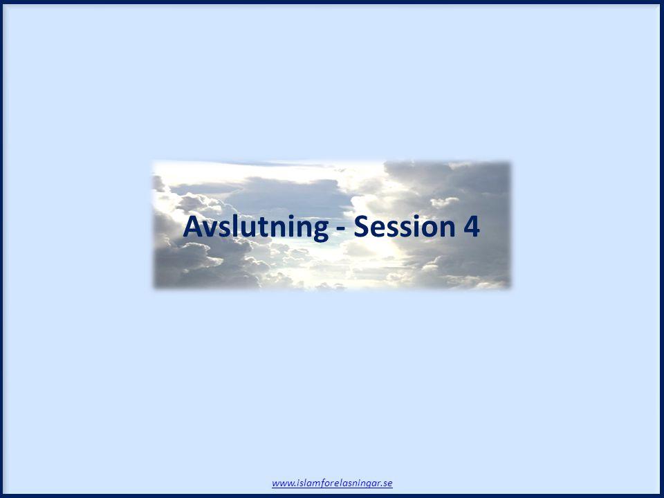 Avslutning - Session 4