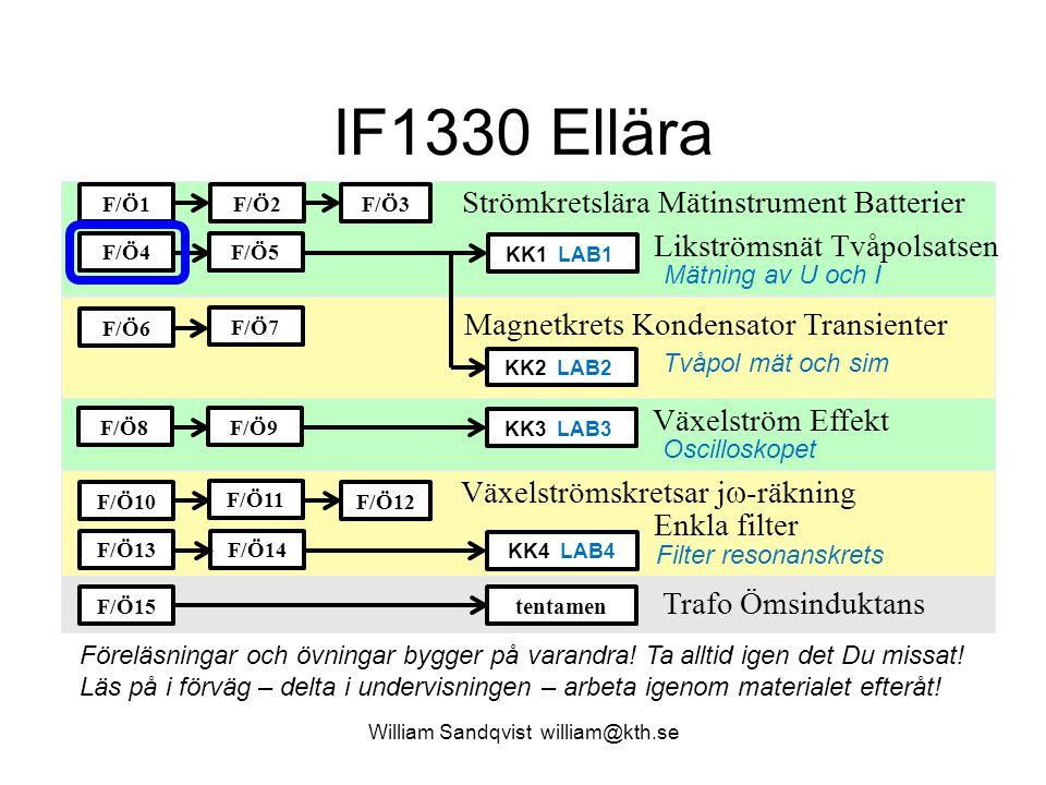 William Sandqvist william@kth.se Oberoende ekvationer Metoden med Kirchoffs lagar är mycket flexibel, man väljer helt enkelt själv hur man ställer upp sina ekvationer.