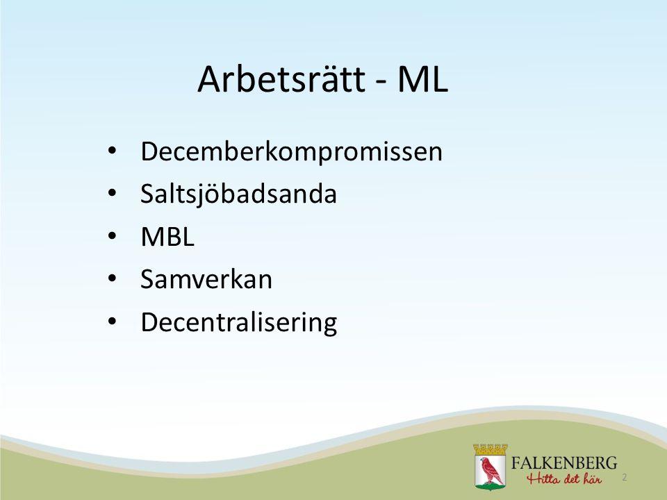 Arbetsrätt - ML Decemberkompromissen Saltsjöbadsanda MBL Samverkan Decentralisering 2