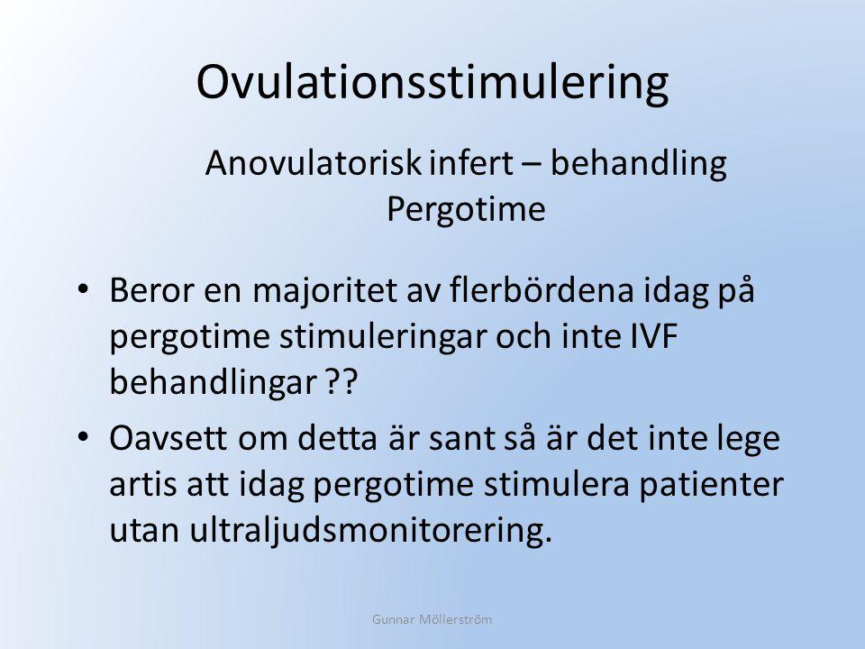Ovulationsstimulering Beror en majoritet av flerbördena idag på pergotime stimuleringar och inte IVF behandlingar ?? Oavsett om detta är sant så är de