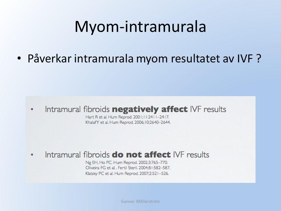 Myom-intramurala Påverkar intramurala myom resultatet av IVF ? Gunnar Möllerström