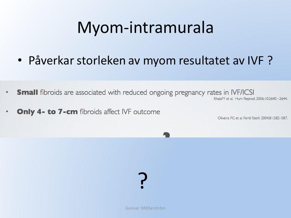 Myom-intramurala Påverkar storleken av myom resultatet av IVF ? Gunnar Möllerström ?