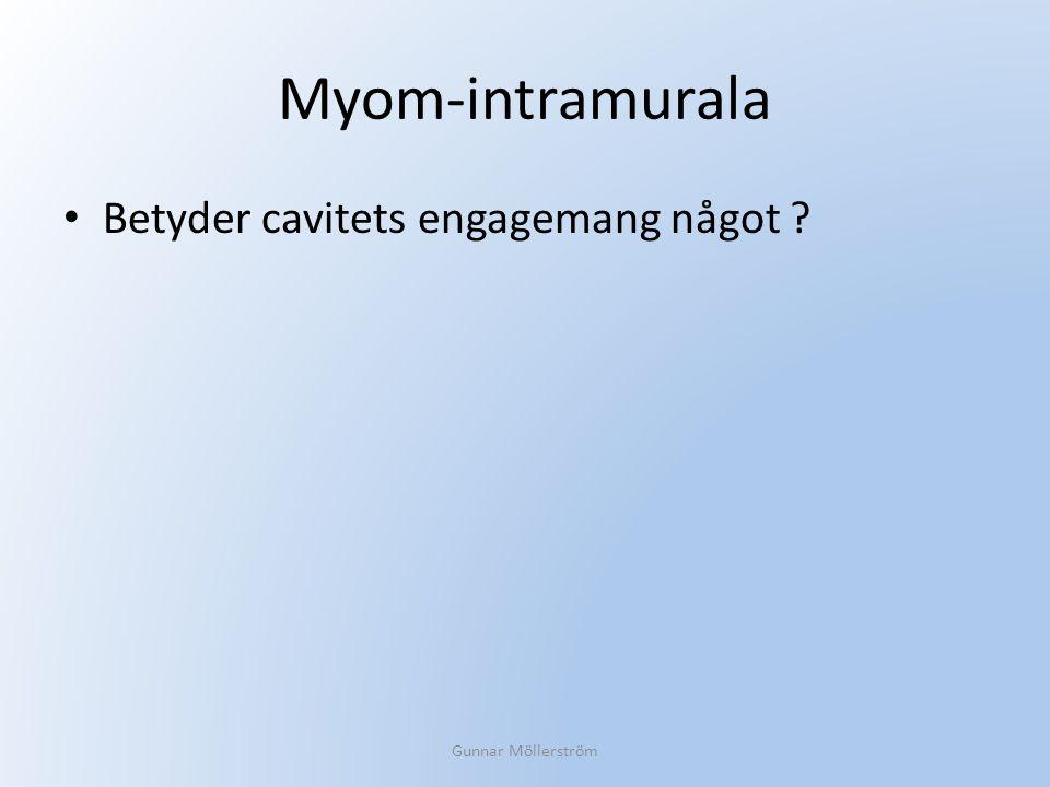 Myom-intramurala Betyder cavitets engagemang något ? Gunnar Möllerström