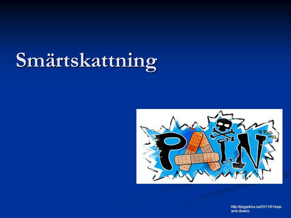 Fördelar och nackdelar med Abbey Fördelar -Alternativ då personen ej kan medverka vid smärtskattningen – kognitiv svikt smärtskattningen – kognitiv svikt -Alla bedömer samma områden – kvalitetssäkring -Minskad risk för godtycklighet -Ett gemensamt sätt att bedöma smärta - Vid svårigheter att göra bedömningen kan två personal göra var sin skattning och tillsammans komma fram till ett resultat Nackdelar Bedömningen finns i betraktarens ögon