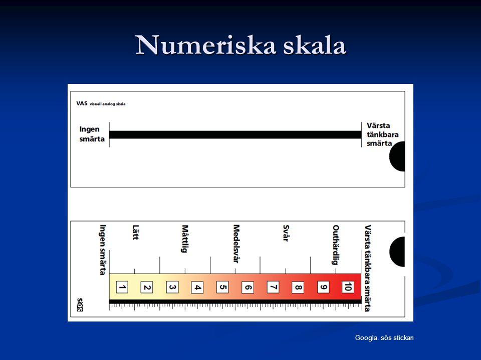 Numeriska skala Googla. sös stickan
