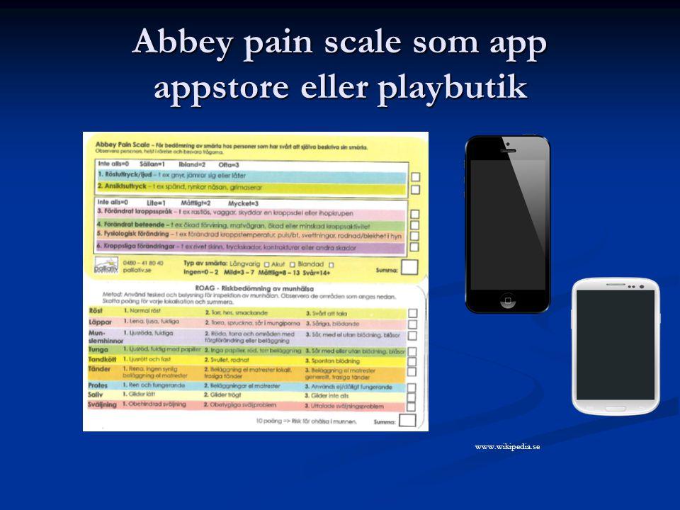 Abbey pain scale som app appstore eller playbutik www.wikipedia.se