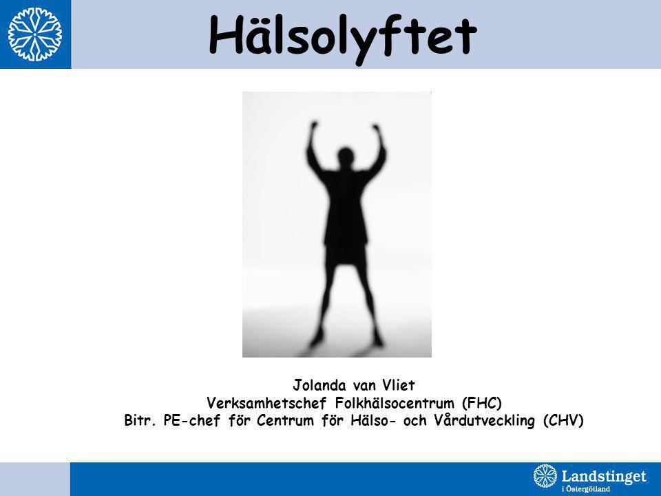 Hälsolyftet Jolanda van Vliet Verksamhetschef Folkhälsocentrum (FHC) Bitr.