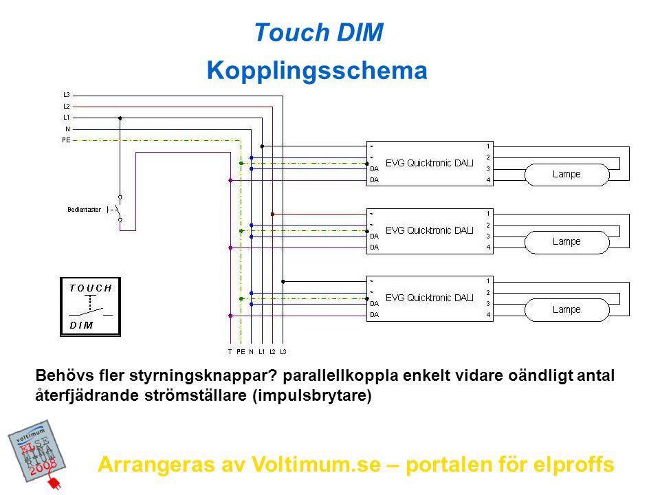 Arrangeras av Voltimum.se – portalen för elproffs Behövs fler styrningsknappar? parallellkoppla enkelt vidare oändligt antal återfjädrande strömställa