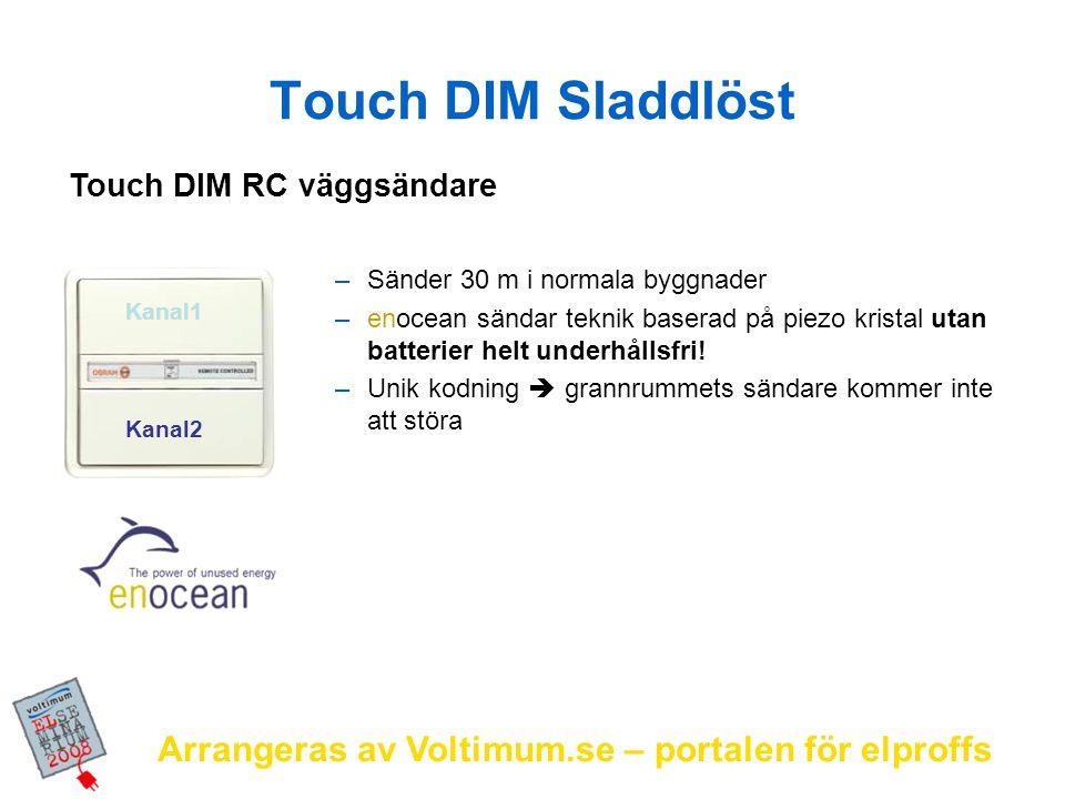Arrangeras av Voltimum.se – portalen för elproffs –Sänder 30 m i normala byggnader –enocean sändar teknik baserad på piezo kristal utan batterier helt
