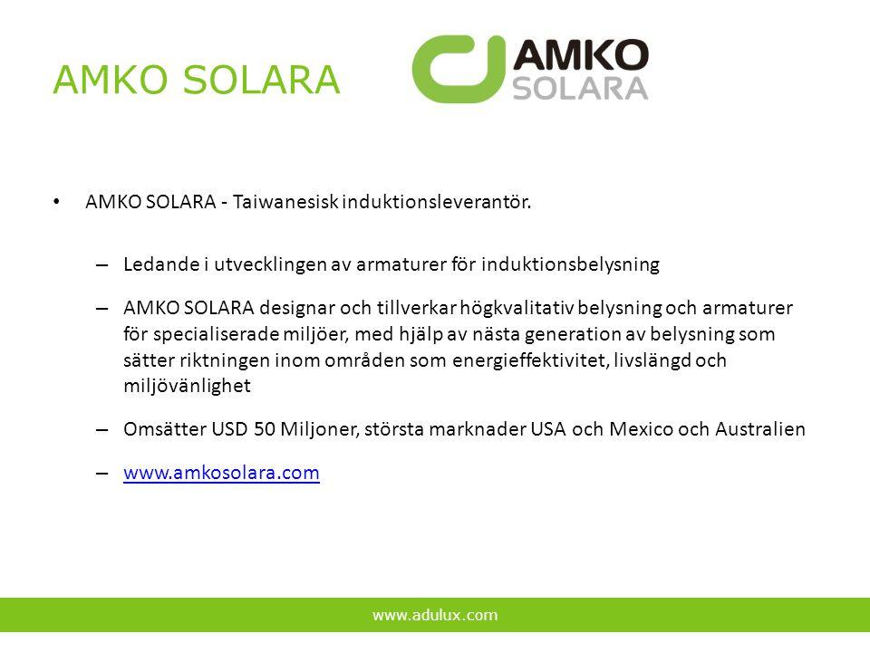 AMKO SOLARA AMKO SOLARA - Taiwanesisk induktionsleverantör. – Ledande i utvecklingen av armaturer för induktionsbelysning – AMKO SOLARA designar och t