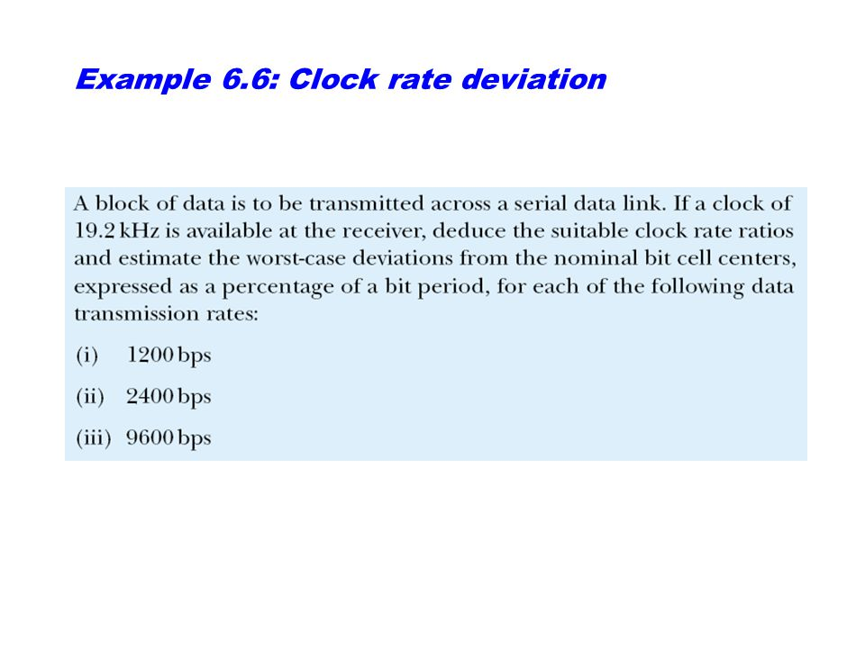 Example 6.4: Nyquist maximum data rate