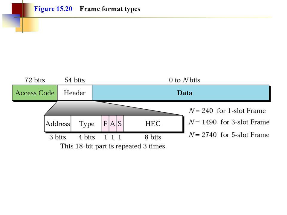 Figure 15.20 Frame format types