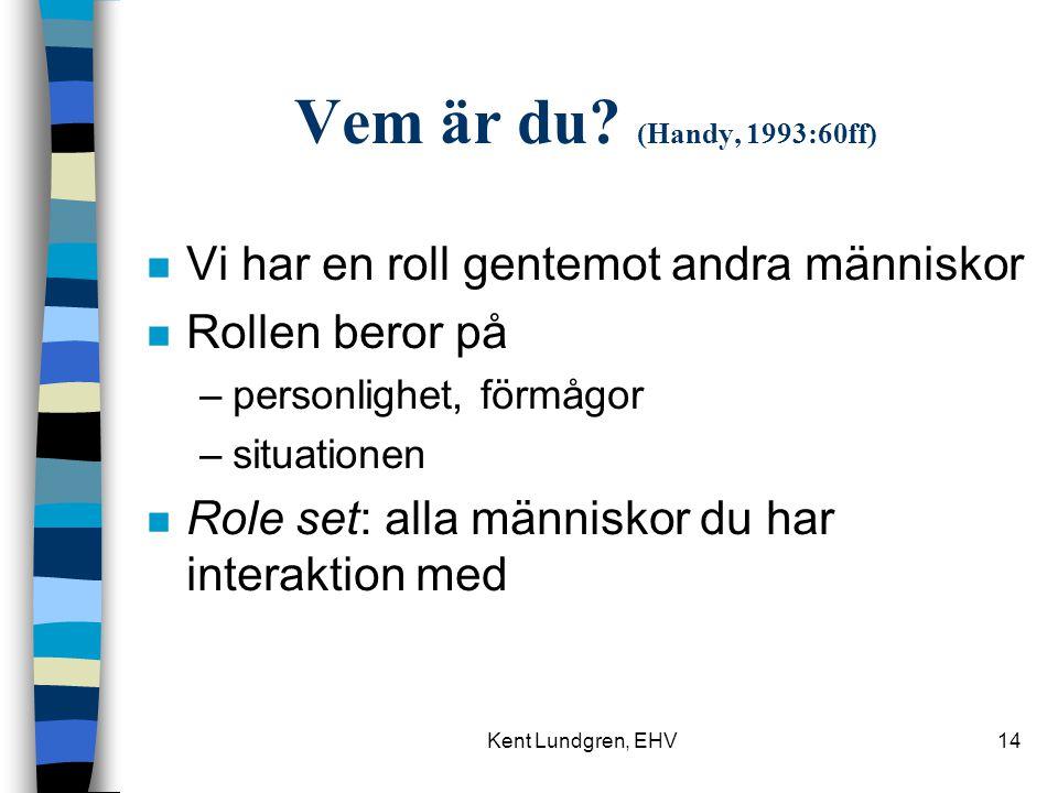 Kent Lundgren, EHV14 Vem är du.