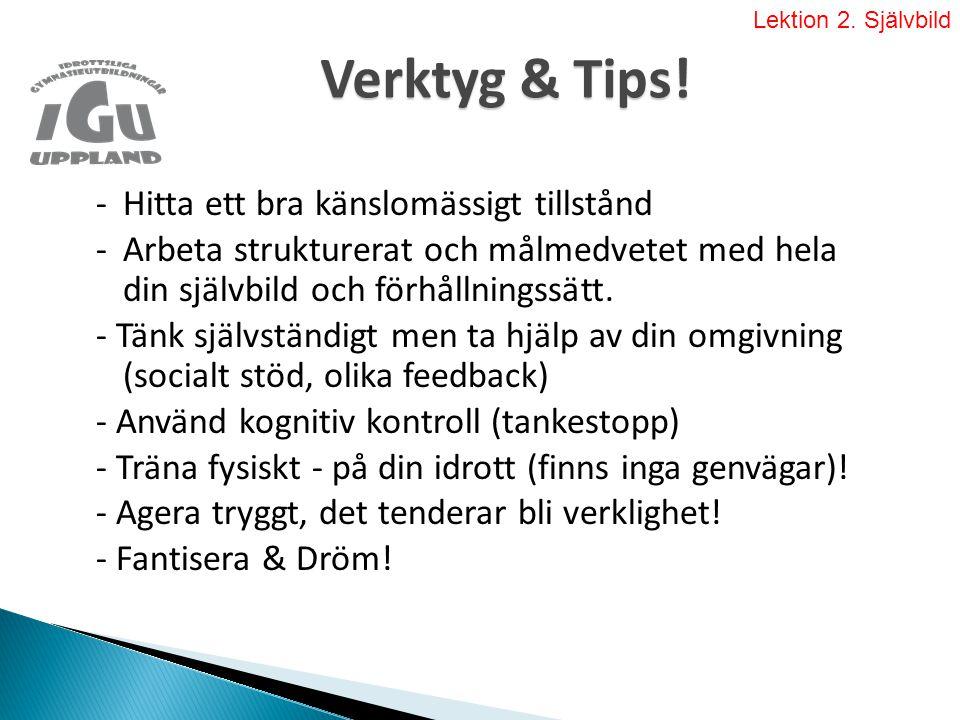 Verktyg & Tips.