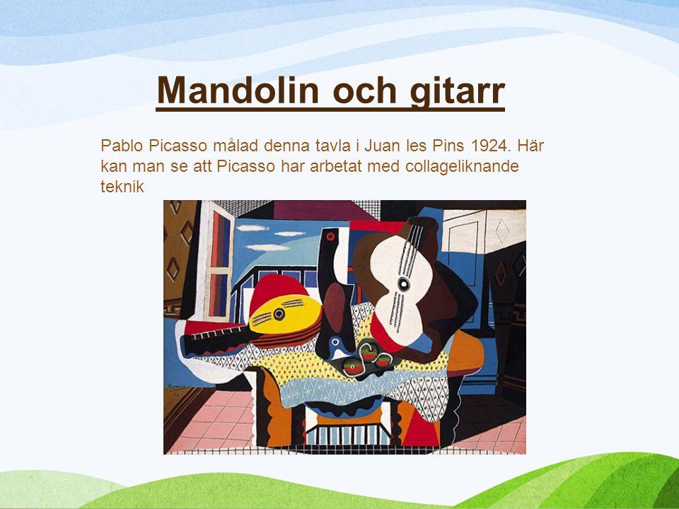 Mandolin och gitarr Pablo Picasso målad denna tavla i Juan les Pins 1924.