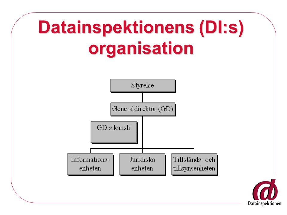 Datainspektionens (DI:s) organisation