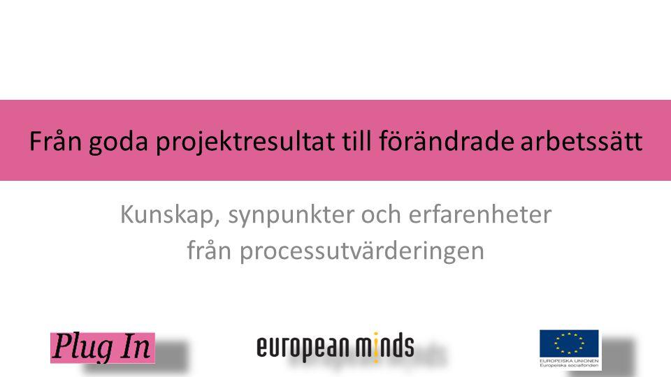 Region Västerbotten www.europeanminds.com Stor tilltro till projektets möjligheter att leda till implementering av nya arbetssätt: Man bedömer att det viktigaste för att lyckas med detta är att påverka politiker i rätt riktning… Utmaningar: Hur kan man arbeta med strategisk påverkan i projektets olika nivåer.