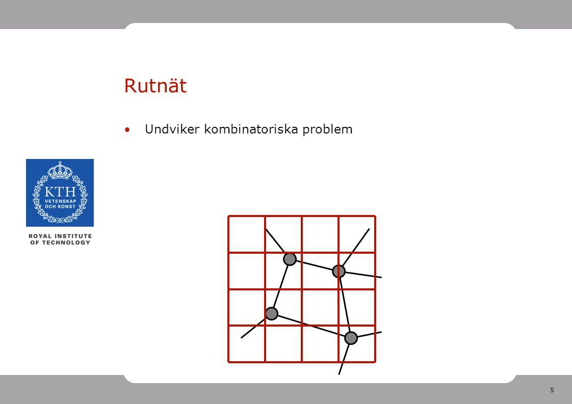 5 Rutnät Undviker kombinatoriska problem