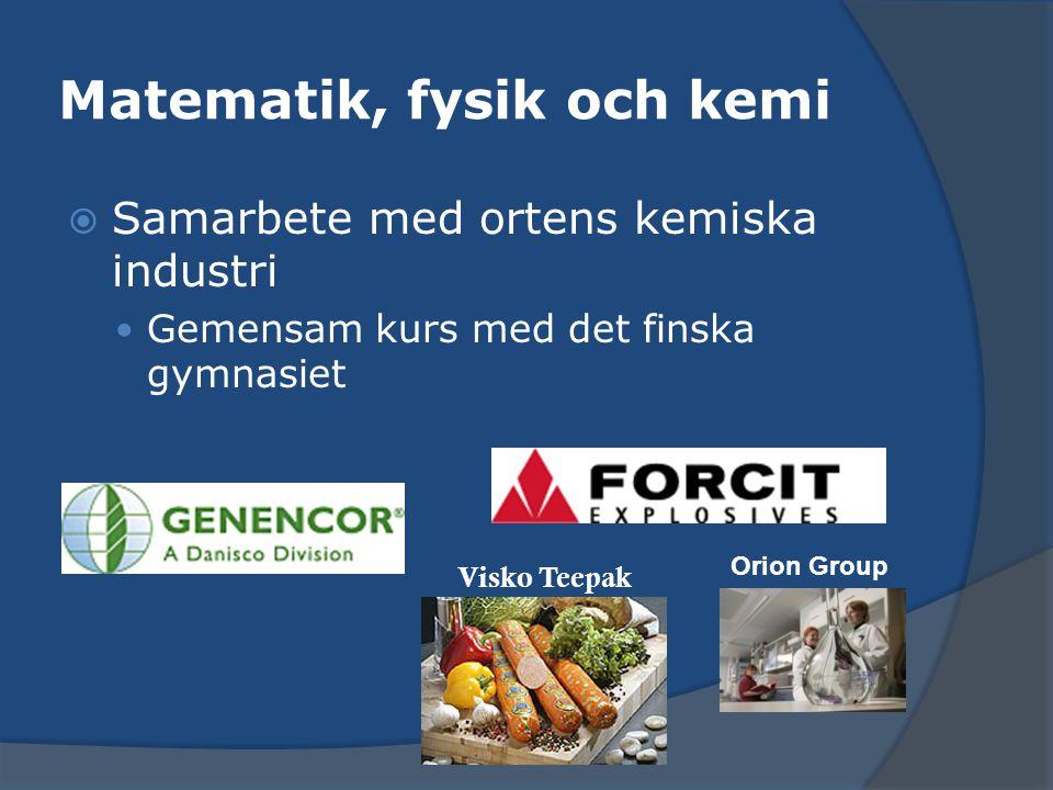 Många samarbetspartners  NiVÅ-samarbete (www.niva.fi) Nätgymnasium i Västnyland och Åboland bredare kursutbud över nätet bl.a.