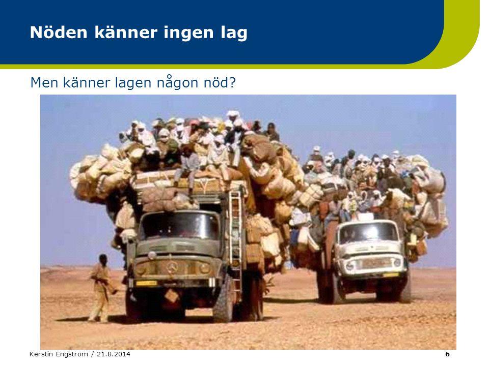 Kerstin Engström / 21.8.201427 Kemiska ämnet saknar R-fraser (Q)SAR (Q)uantitative Structure Activity Relationships