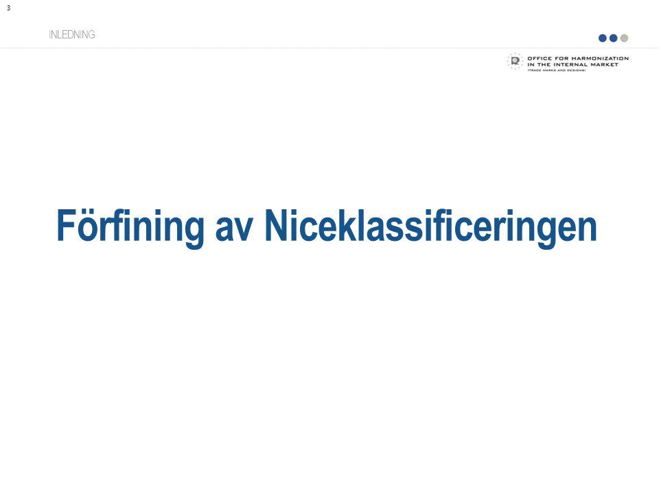 Förfining av Niceklassificeringen INLEDNING 3