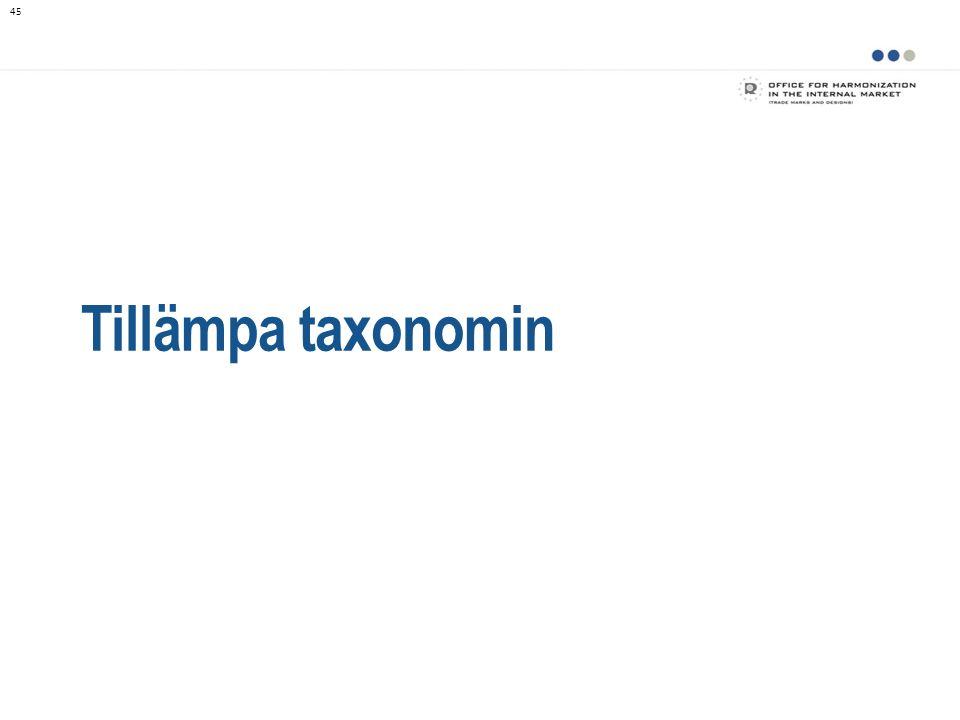 Tillämpa taxonomin 45