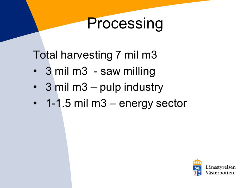 Consumed raw material annually 2,1 TWh (ca 3,2 m m 3 s) Effect: 105 MW (heating 75 MW + el 30 MW).