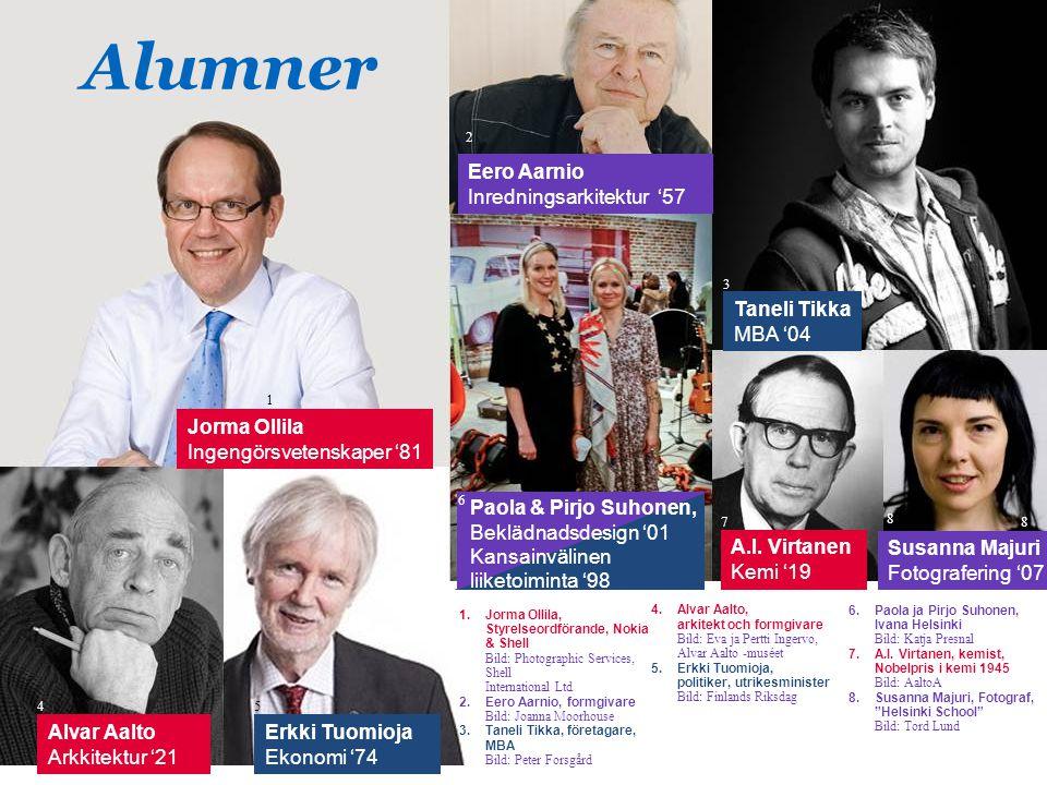 Susanna Majuri Fotografering '07 8 Alumner 1.Jorma Ollila, Styrelseordförande, Nokia & Shell Bild: Photographic Services, Shell International Ltd 2.Ee