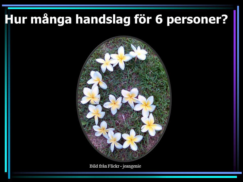 Hur många handslag för 5 personer 10