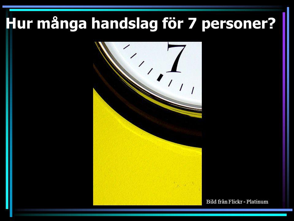 Hur många handslag för 6personer 15