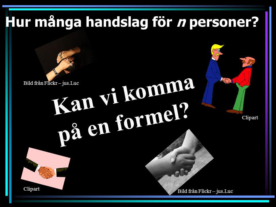Hur många handslag för 7 personer 21