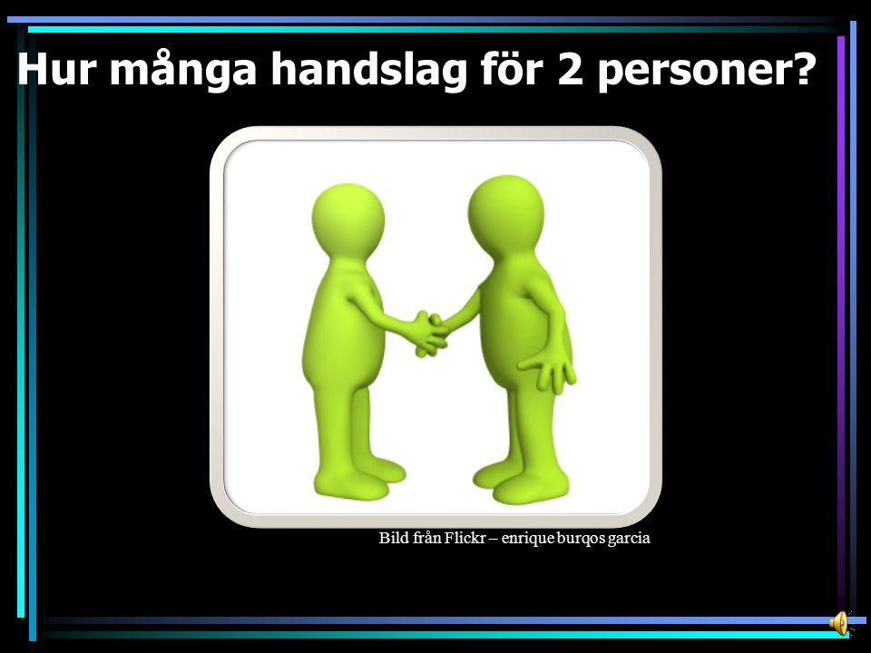 Antal personer Totalt antal handslag Handslag för varje person