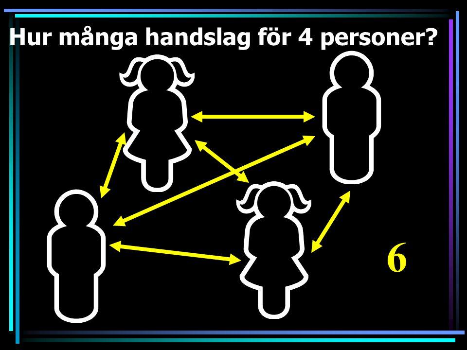 Hur många handslag för 4 personer Bild från Flickr - Squirmilia