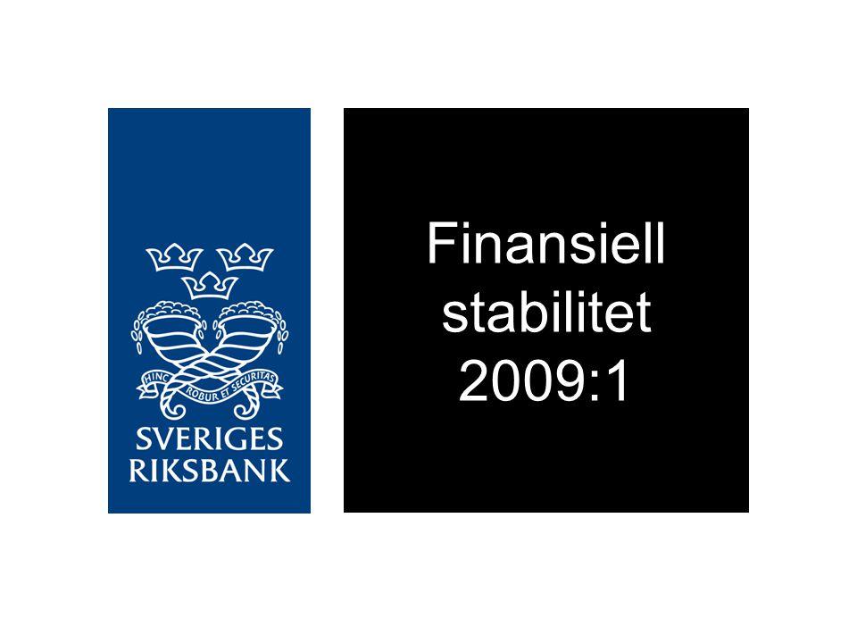Företagens upplåning från kreditinstitut och fasta bruttoinvesteringar Årlig procentuell förändring Källa: RiksbankenDiagram 2:23