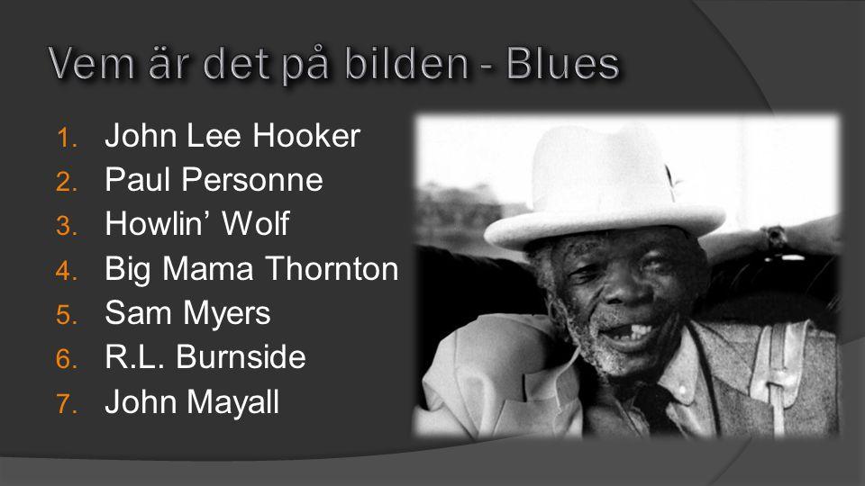1. John Lee Hooker 2. Paul Personne 3. Howlin' Wolf 4. Big Mama Thornton 5. Sam Myers 6. R.L. Burnside 7. John Mayall