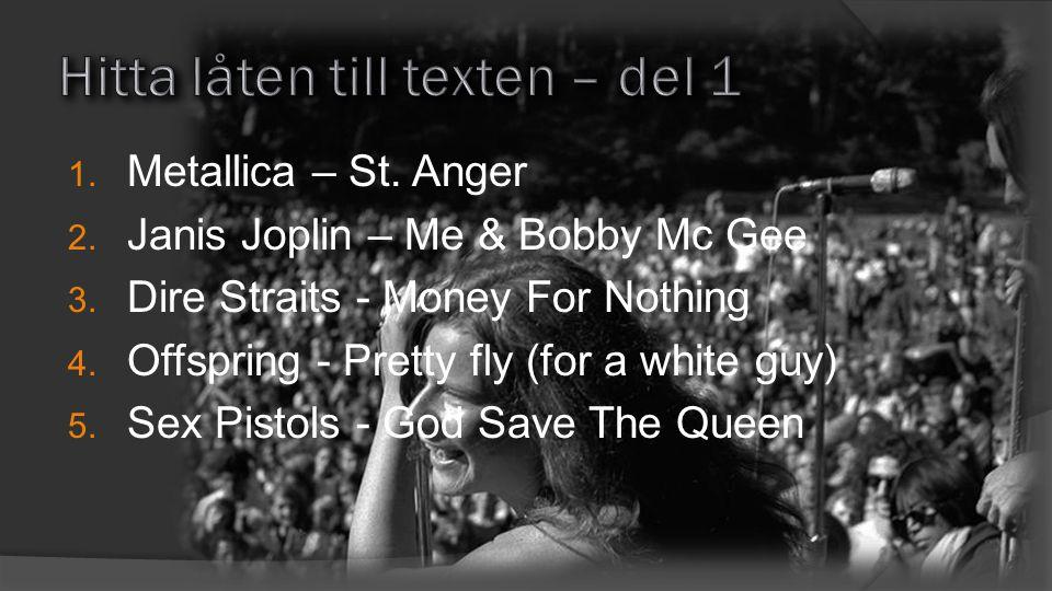 5Storhetstiden var i mitten på 60-talet 4 I begynnelsen hette de Alberts Skifflegrupp och kom från Göteborg 3Det töntigaste mellannamnet blev grunden till bandets namn 2En hit var Sleep Litle Girl 1Anders Töpel, Tommy Blom Tages