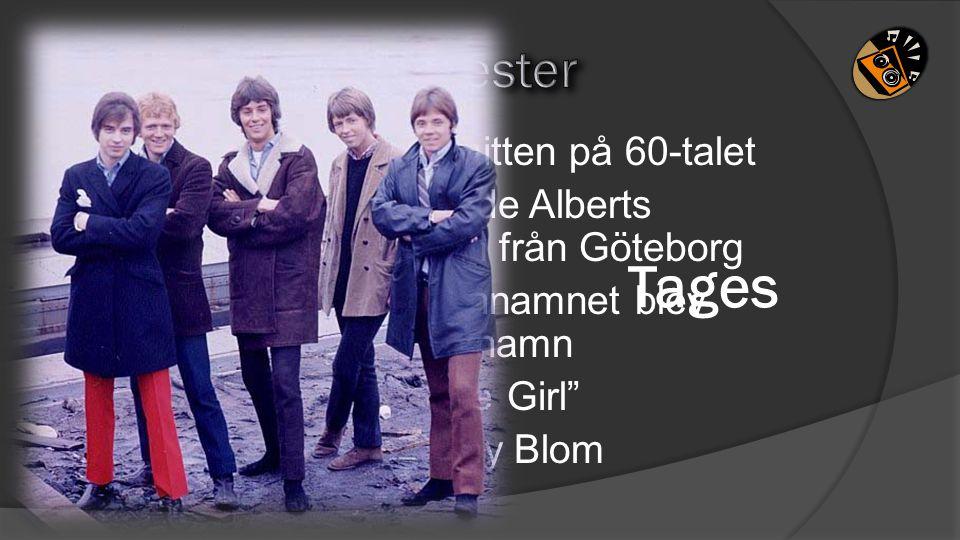 5Storhetstiden var i mitten på 60-talet 4 I begynnelsen hette de Alberts Skifflegrupp och kom från Göteborg 3Det töntigaste mellannamnet blev grunden