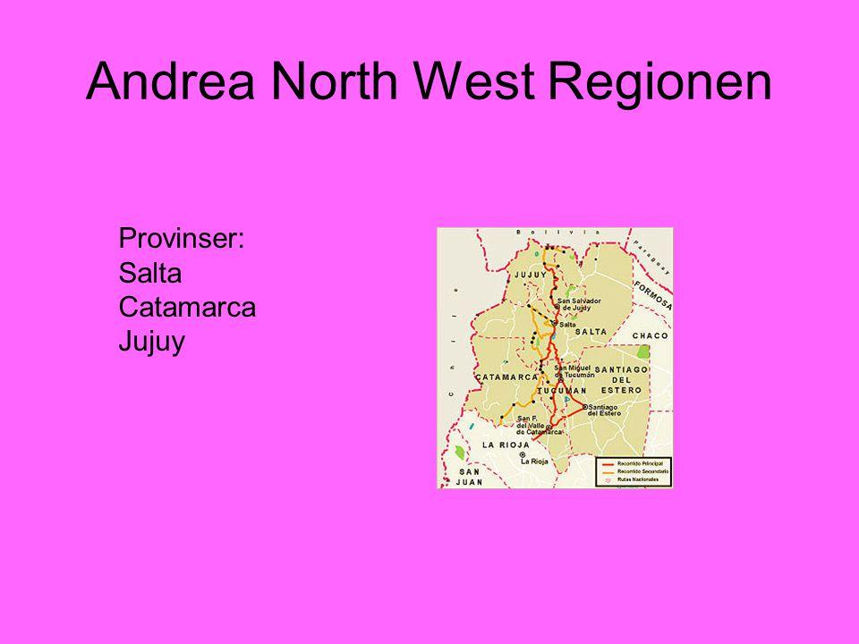 Andrea North West Regionen Provinser: Salta Catamarca Jujuy