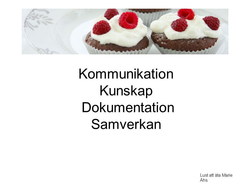 Kommunikation Kunskap Dokumentation Samverkan Lust att äta Marie Åhs