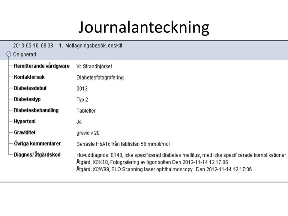 Journalanteckning