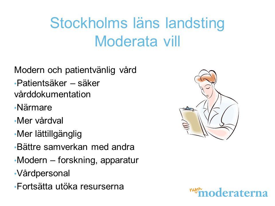 Modern och patientvänlig vård Patientsäker – säker vårddokumentation Närmare Mer vårdval Mer lättillgänglig Bättre samverkan med andra Modern – forskn