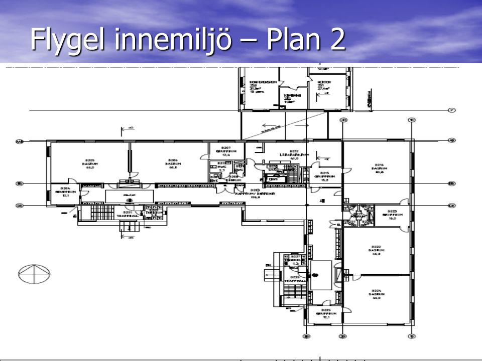 Flygel innemiljö – Plan 2