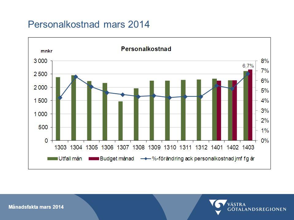 Personalkostnad mars 2014
